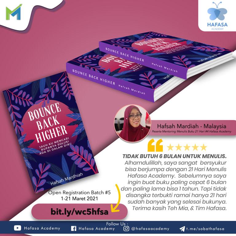 Flyer Testimoni HAfsah Mardiah Malaysia